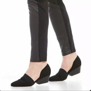 Eileen Fisher Black Hilly Suede D'Orsay Pumps